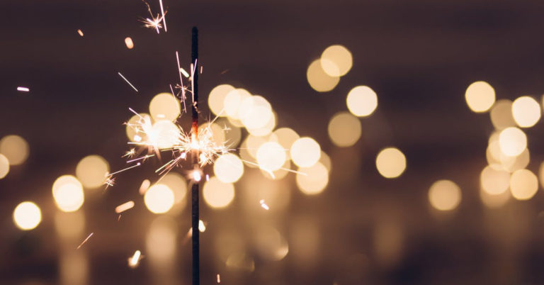 Photo of sparklers and fireworks as a symbol of celebration!